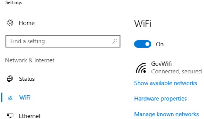 Connect to GovWifi using a Windows device - GovWifi
